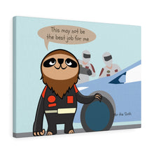 Mo the Sloth Canvas Gallery Wraps - Nascar