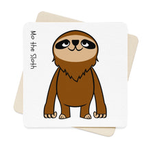 Mo the Sloth Square Paper Coaster Set - 6pcs - Body