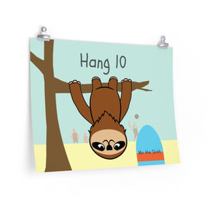Mo the Sloth Premium Matte horizontal posters - Hang 10