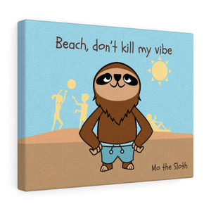 Mo the Sloth Canvas Gallery Wraps - Beach