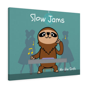 Mo the Sloth Canvas Gallery Wraps - Slow Jams