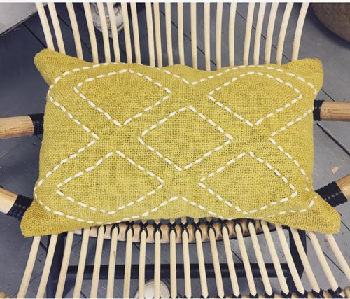 Diamonds Cushion - Yellow