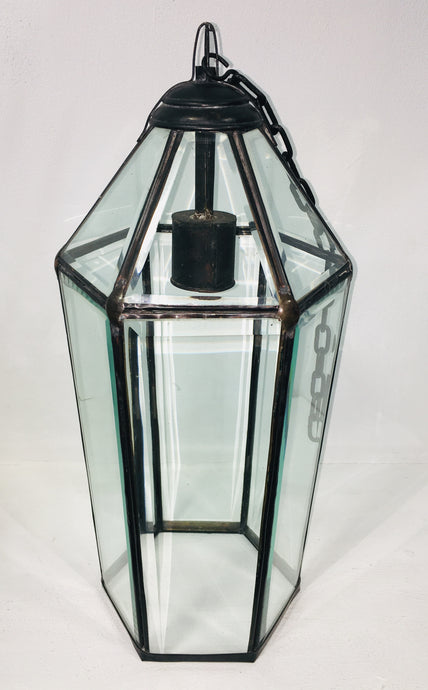 Hand Crafted Bevel Glass Ceiling Lantern