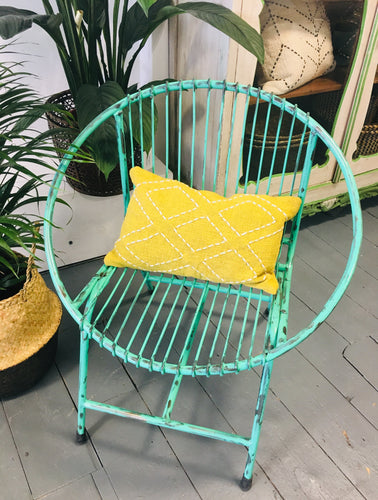 Turquoise Round Terrace Chair