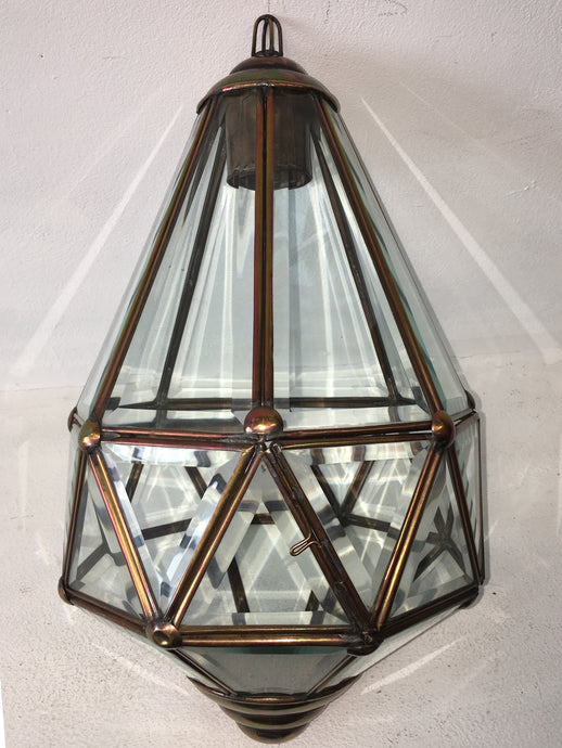 Hand Crafted Small Diamond Ceiling Lantern