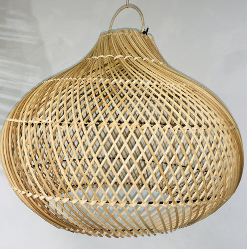 Oval Rattan Lightshade