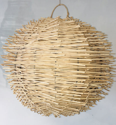 Layered Rattan Lampshade