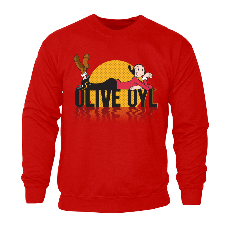 Olive Oyl 'Sunset' Sweatshirt Red