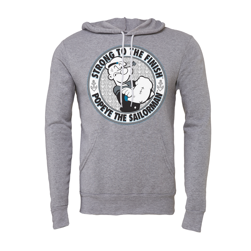 'Strong to the Finish' Hoodie Heather Grey
