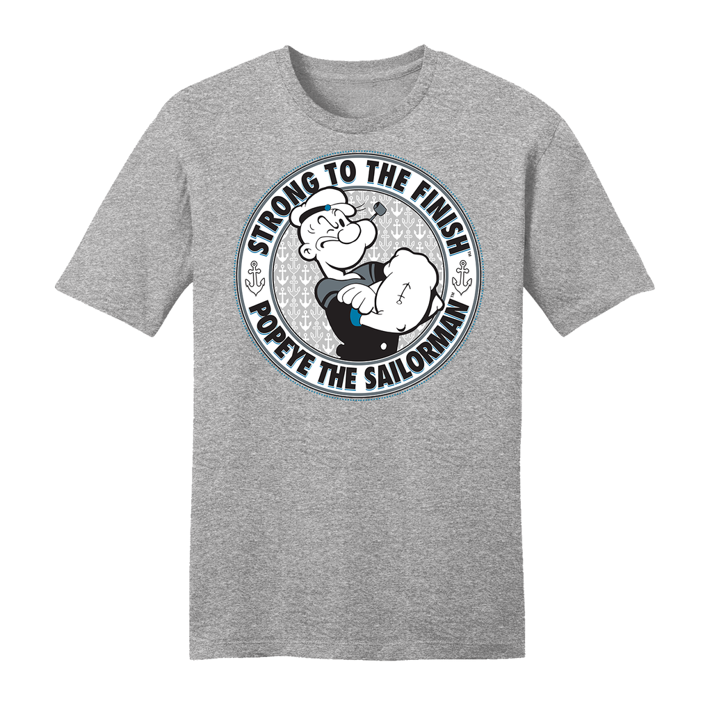 'Strong to the Finish' T Shirt Heather Grey