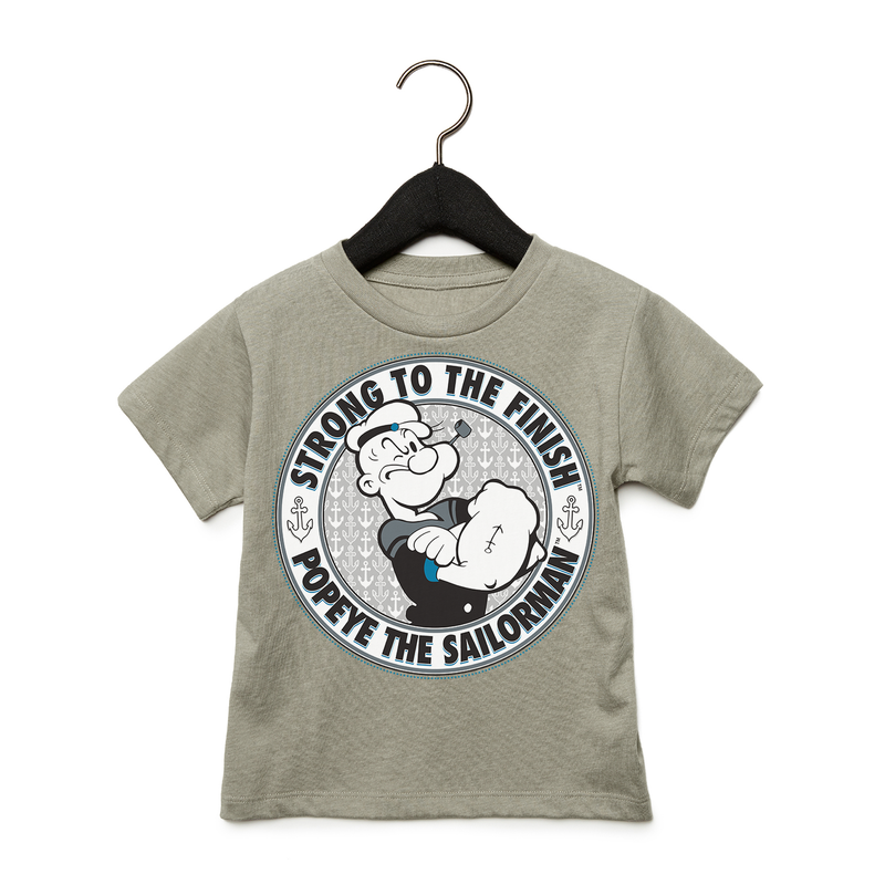 'Strong to the Finish' Toddler T Shirt Heather Grey
