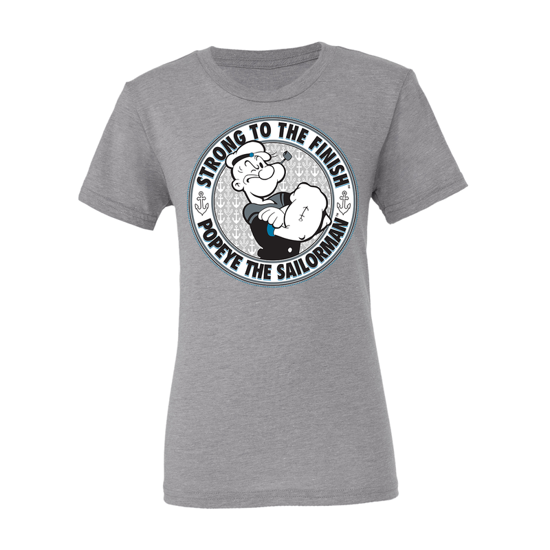 'Strong to the Finish' Youth T Shirt Heather Grey
