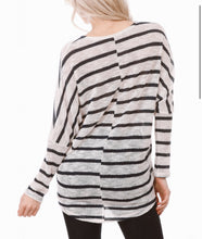 Load image into Gallery viewer, Nautical Stripe Sweater