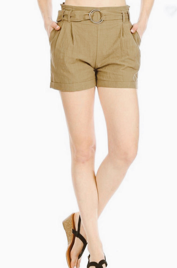 Green Paper Bag Shorts