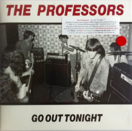 "The Professors 'Go Out Tonight' 7"" Vinyl - SELLING FAST! DON'T MISS YOURS"