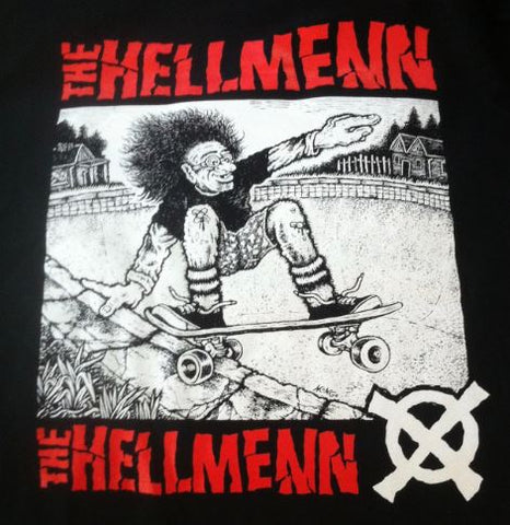 HELLMENN - Mongo Design T-SHIRT (Black w/ Red Lettering)