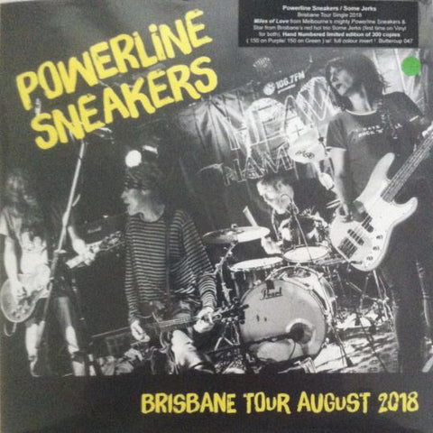 "Powerline Sneakers/Some Jerks - Tour 7"" Vinyl"