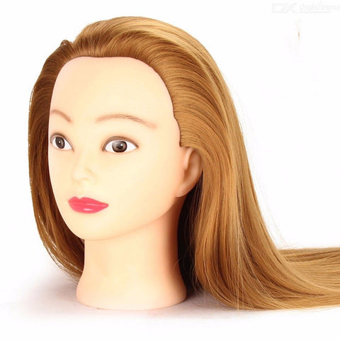 60 - 65cm Cosmetology Head Model Mannequin Doll For Hair Styling Practice