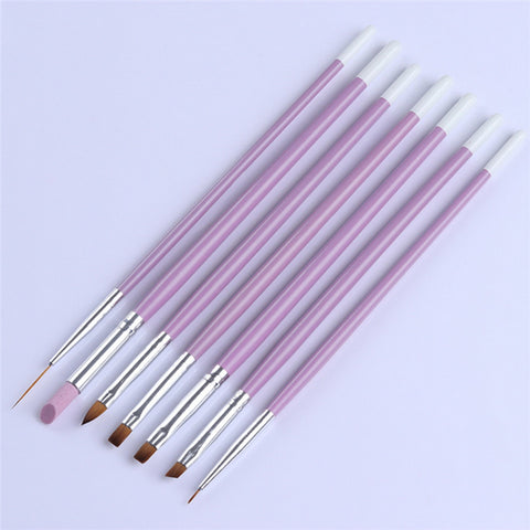 Nail Art DIY UV Gel Brushes Phototherapy Liner Painting Pen Drawing Kit Flower Line Grid Manicure Tool