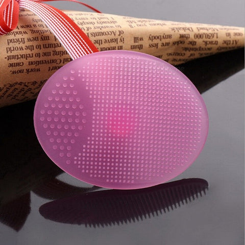 Soft Silicone Cleaning Pad, Wash Face Facial Exfoliating Brush, SPA Skin Scrub Cleanser Tool - Random Color