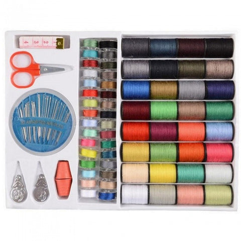 64 Spools With Multi Assorted Colors For Sewing Threads Needles Set Sewing Tools Kit 10*1.1*8.3 Inches Assorted Colors