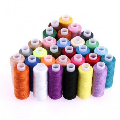 30Pcs 250 Yard Polyester Machine Embroidery Sewing Threads Hand Sewing Thread Craft Patch Steering-wheel Sewing Supplies Multi