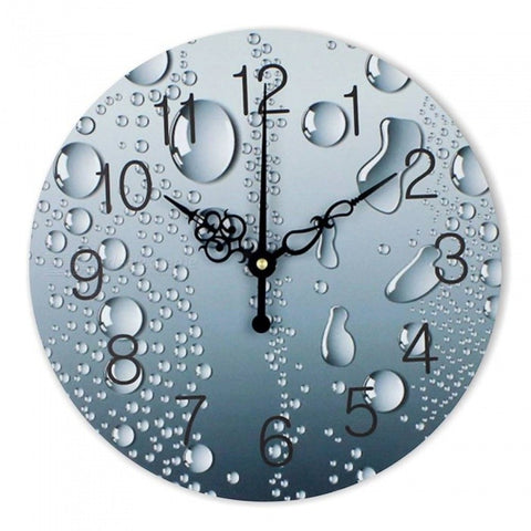 Designer Wall Clock Modern Home Decoration 3D Wall Decor Clocks Living Room Decor Silent Wall Clock Watch Duvar Saati 12 inch/Raindrop