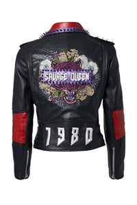 SAVAGE QUEEN Leather Jacket