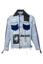 Load image into Gallery viewer, BORN TO WIN Denim Jacket