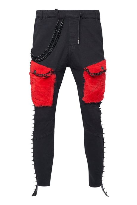 RED POCKETS Trousers