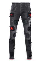 Load image into Gallery viewer, RED STAR Black Jeans
