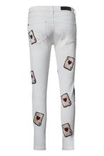Load image into Gallery viewer, LUCKY AS F*CK White Jeans