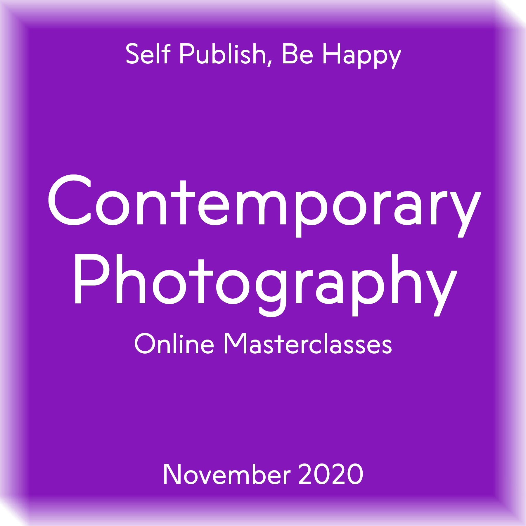 Contemporary Photography Masterclasses November 2020
