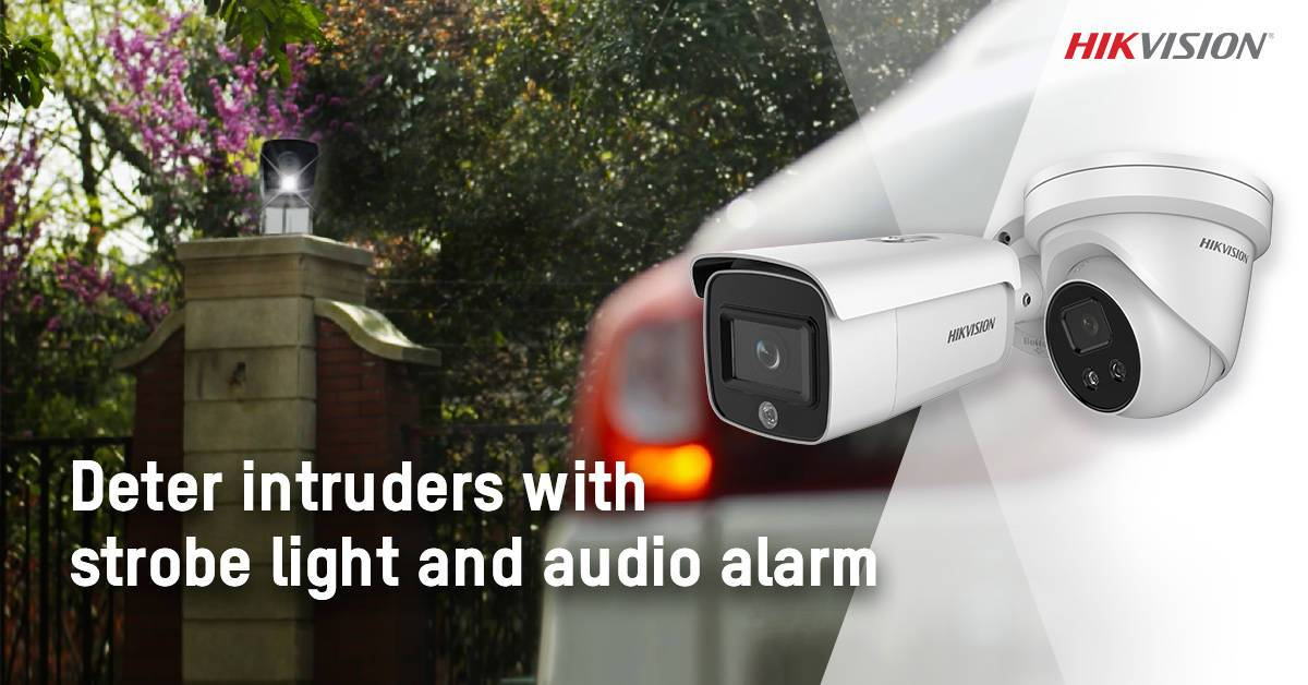 Hikvision launches AcuSense network cameras with strobe light and alarm to instantly deter intruders