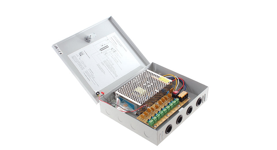 12V 10A 9 Channel Regulated Camera Power Supply