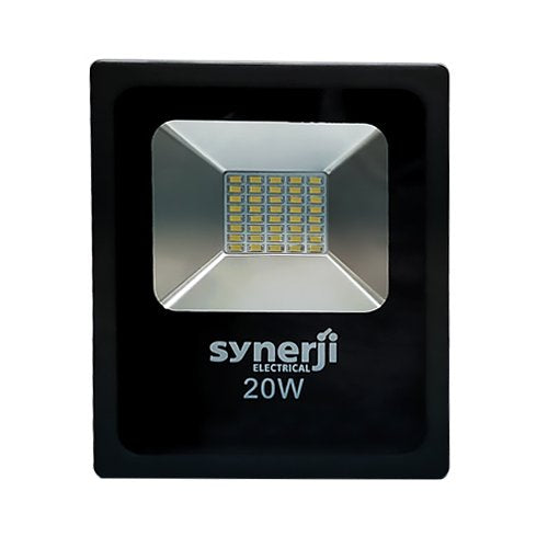 SYNERJI 20W Daylight Slim LED Floodlight