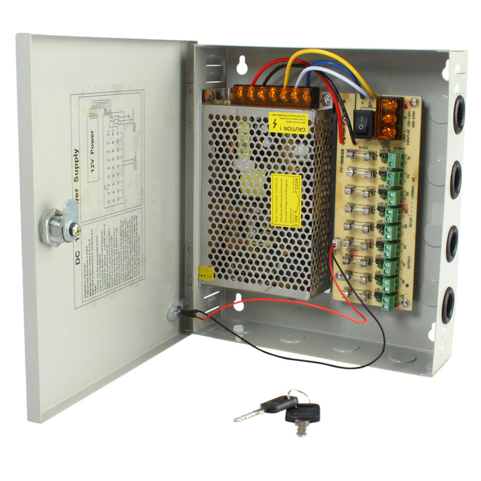 12V 5A 9 Channel Regulated Camera Power Supply