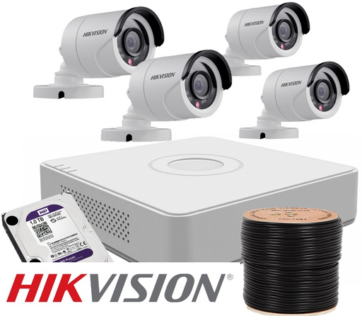 Hikvision Home Security 4 Camera CCTV Kit