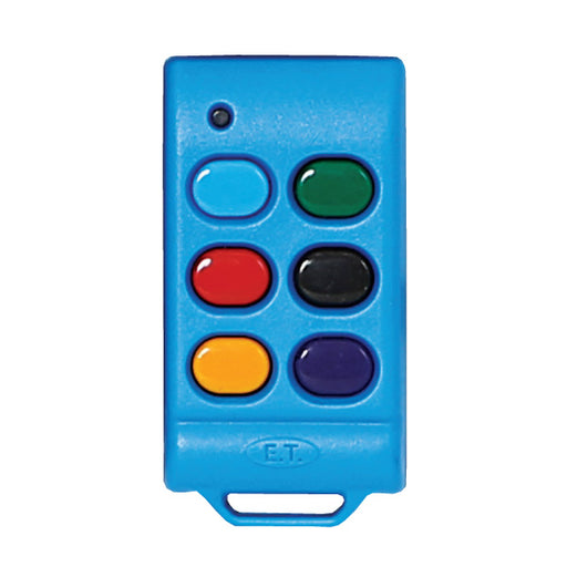 ET Blue 6 Button 434MHz Code Hopping Remote Transmitter