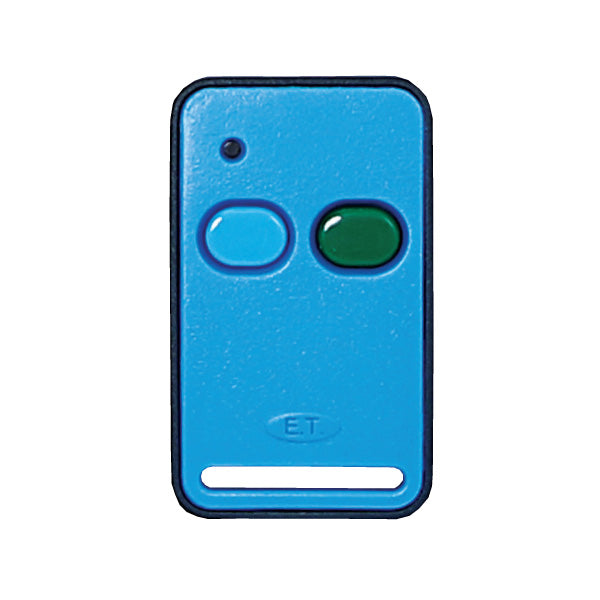 ET Blue 2 Button 434MHz Code Hopping Remote Transmitter