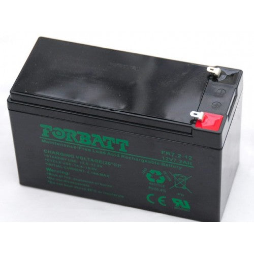 Forbatt 12V 7.2Ah Lead Acid Rechargeable Battery