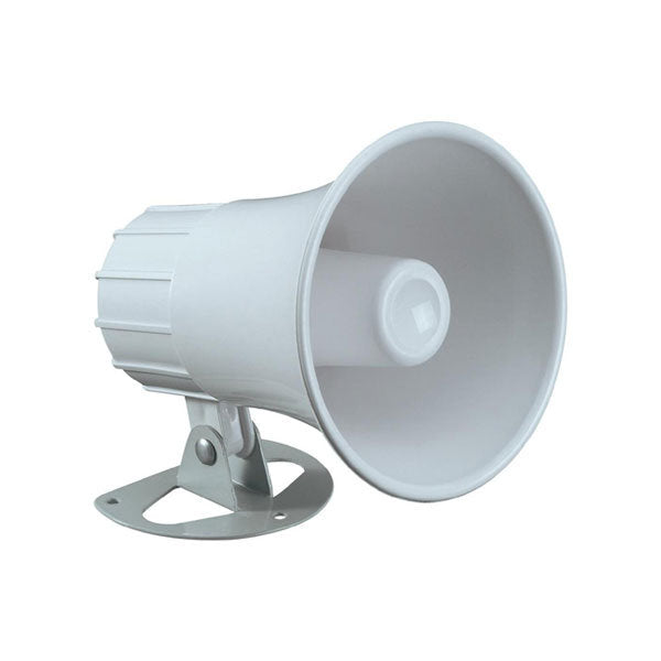 White siren horn for alarm and emergency