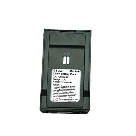 Zartek GE-203 Li-ion Battery Pack for ZA-720