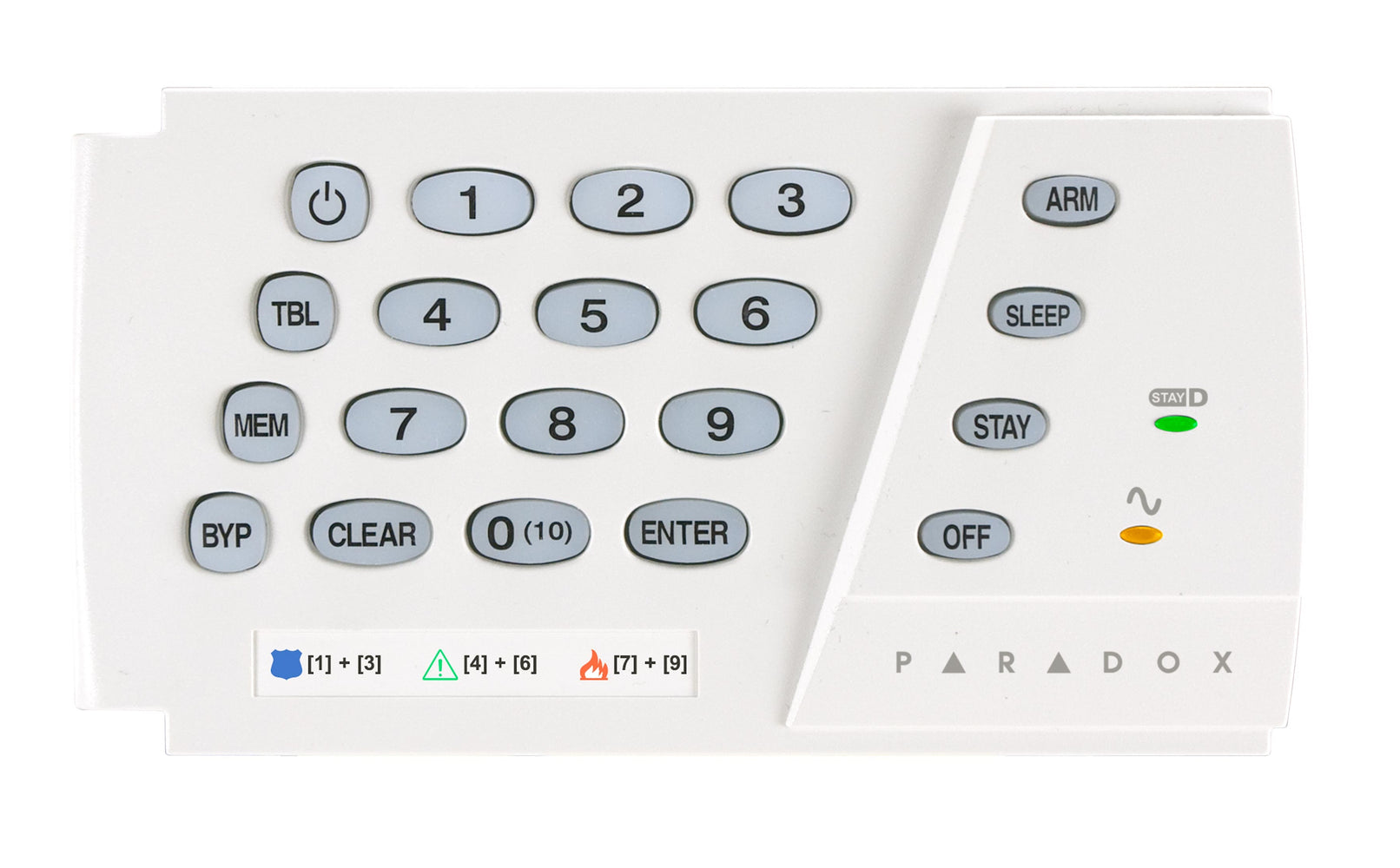 Paradox K636 10-Zone Hardwired LED Keypad - PA5175