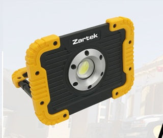 Zartek ZA-448 10W USB Rechargeable LED Worklight with Powerbank