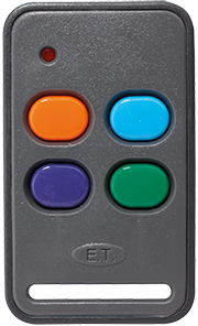 ET 4 Button Orange Button Self Learning 434MHz Remote Transmitter