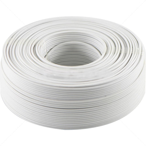 0.5mm Stranded White Ripcord 100m Cable