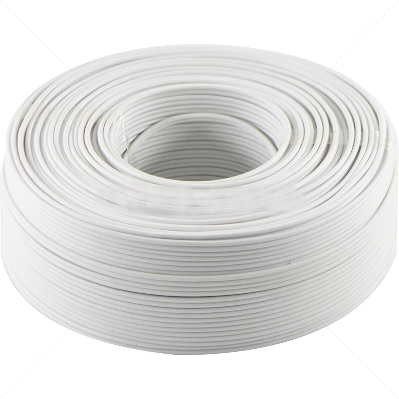 ripcord ribbed cord 0.5mm white wiring cable