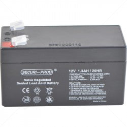 securi-prod 12V 1.3AH sealed lead acid battery for gate and garage door operators from power kingdom