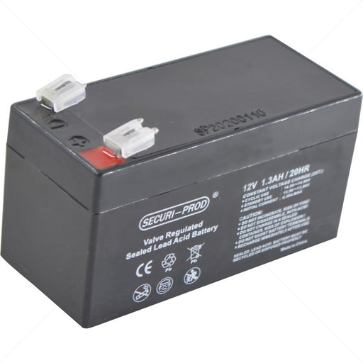 securi-prod 12V 1.3AH sealed lead acid battery